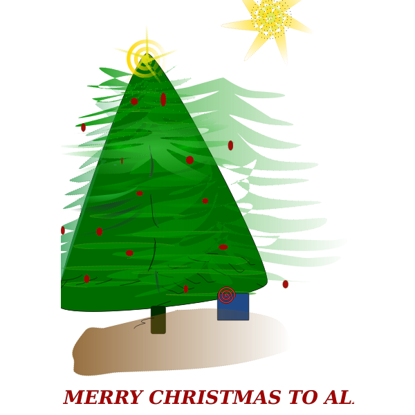 Christmas Card Vector Art
