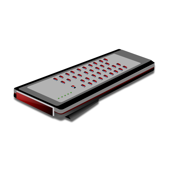 Remote control vector illustration