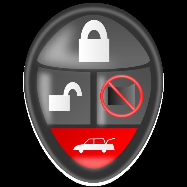 Car alarm remote vector clip art