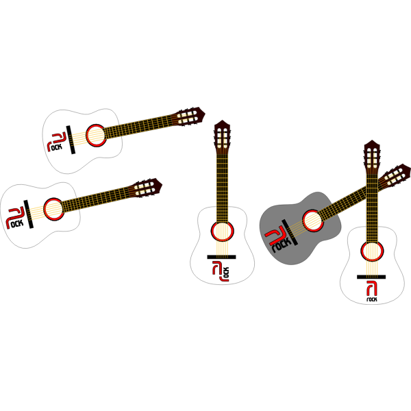 Vector illustration of acoustic guitar