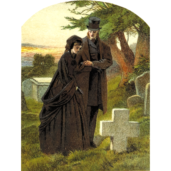 Couple on graveyard