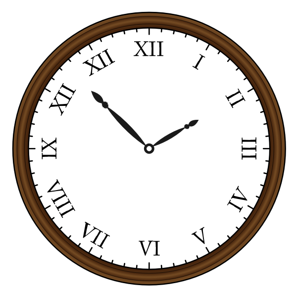 Retro clock vector drawing