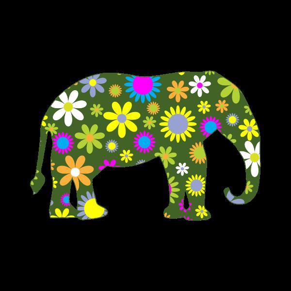 Flowery elephant