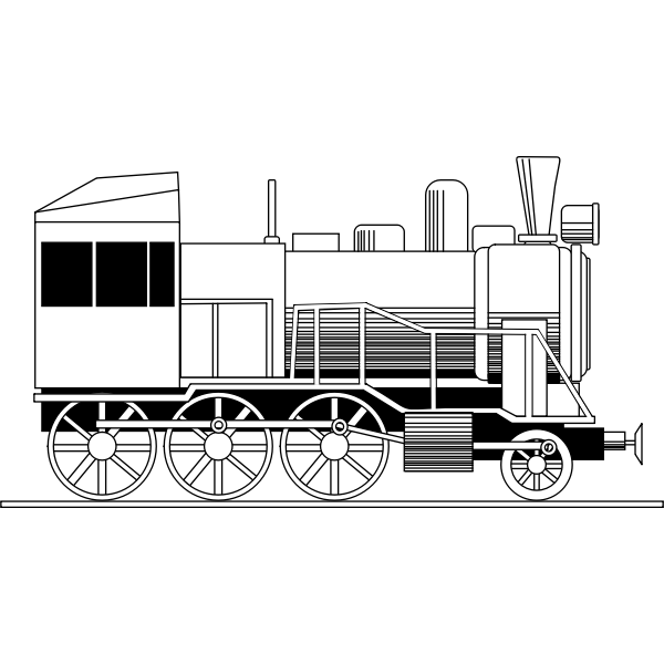 Vector illustration of locomotive