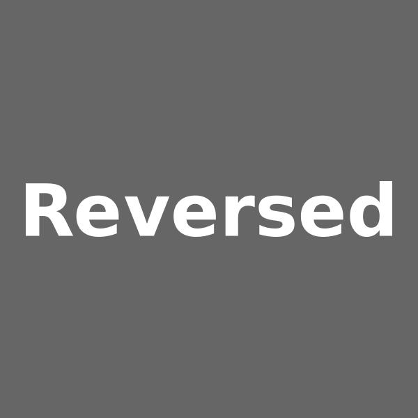 Reversed logo animation