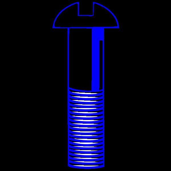 Machine Screw - Blue