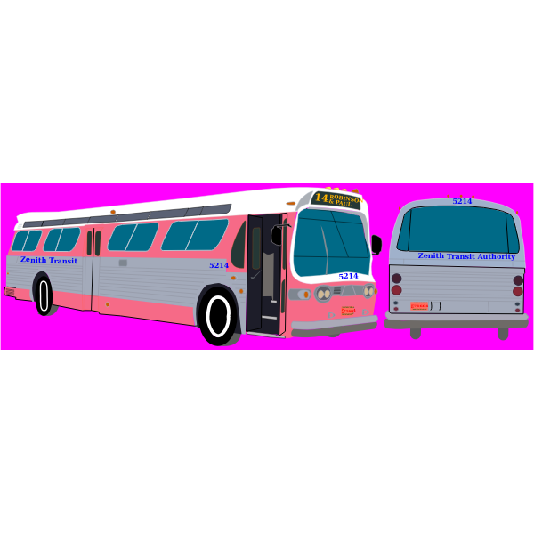 Transit bus vector image