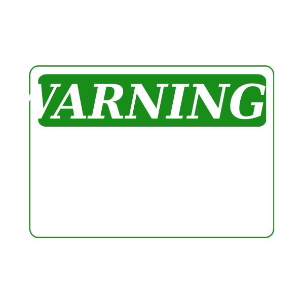 Rfc1394 Warning Blank Green