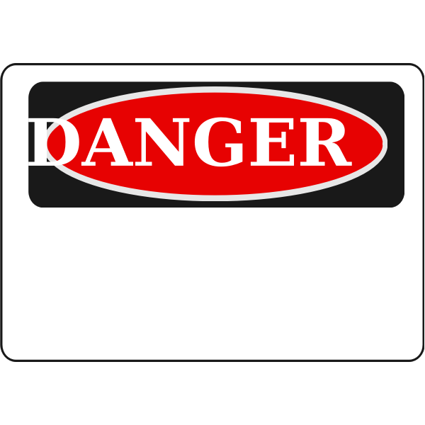 Danger sign blank red vector image
