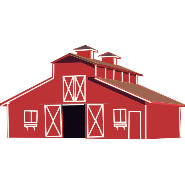 Farm house vector clip art