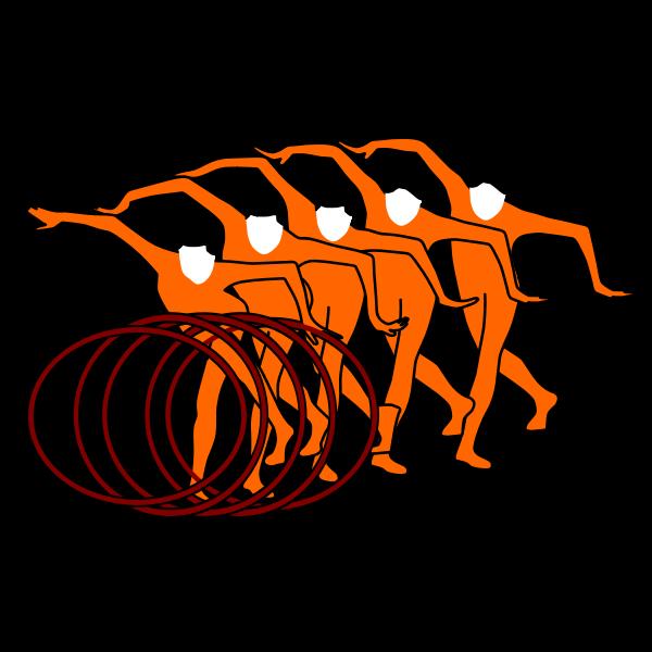 Vector illustration of rhythmic gymnastics sign,