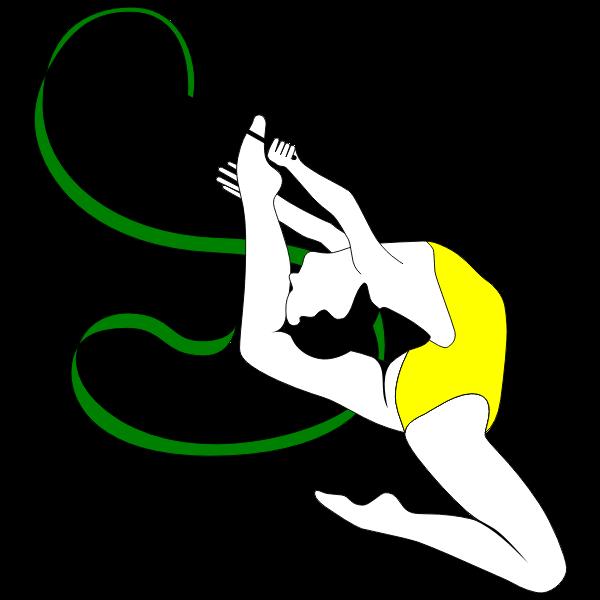 Rhythmic gymnast performer color drawing