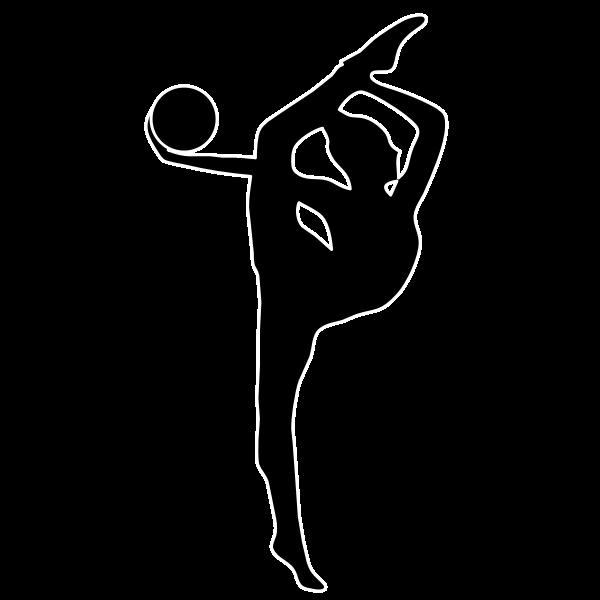 Rhythmic gymnast silhouette vector illustration