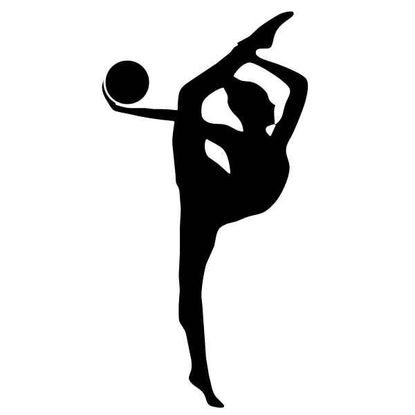 Gymnastics performer with a red ball vector image