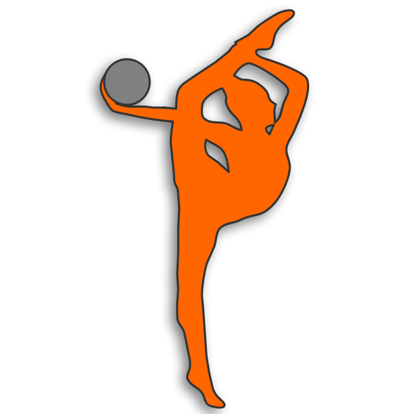 Rhythmic gymnast silhouette vector drawing