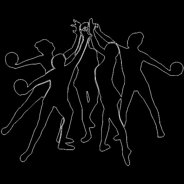 Group of rhythmic gymnasts vector image