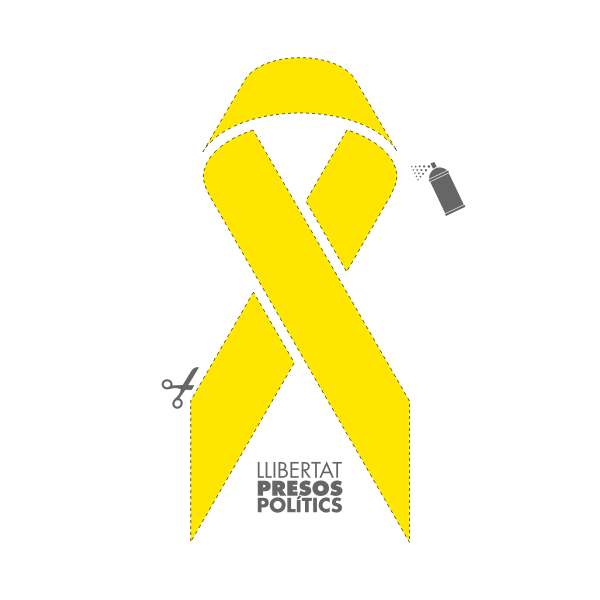 Yellow ribbon stencil