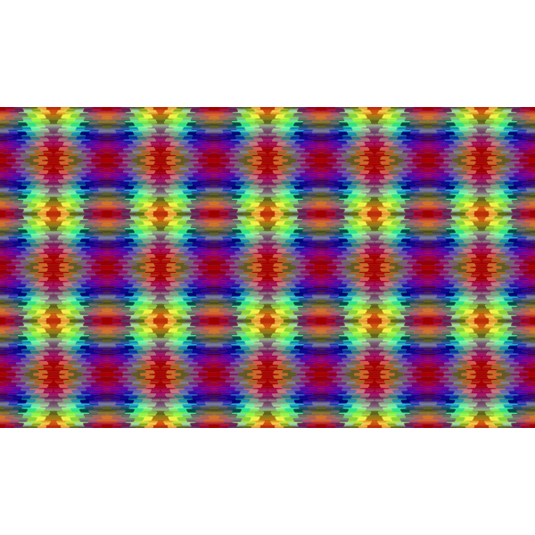 Ribbon pattern in rainbow colors