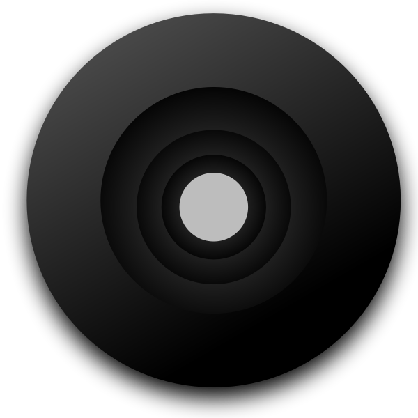 Vector drawing of camera objective lens
