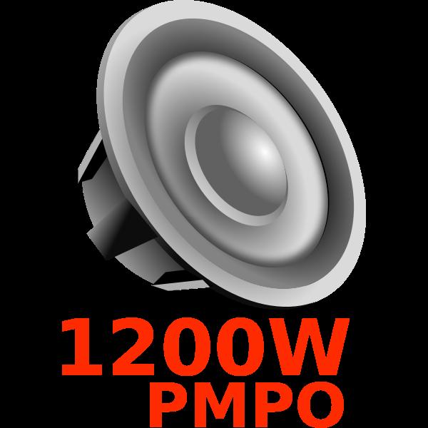 Car loudspeaker vector image