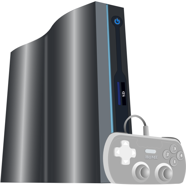 Zeebo video game console vector image