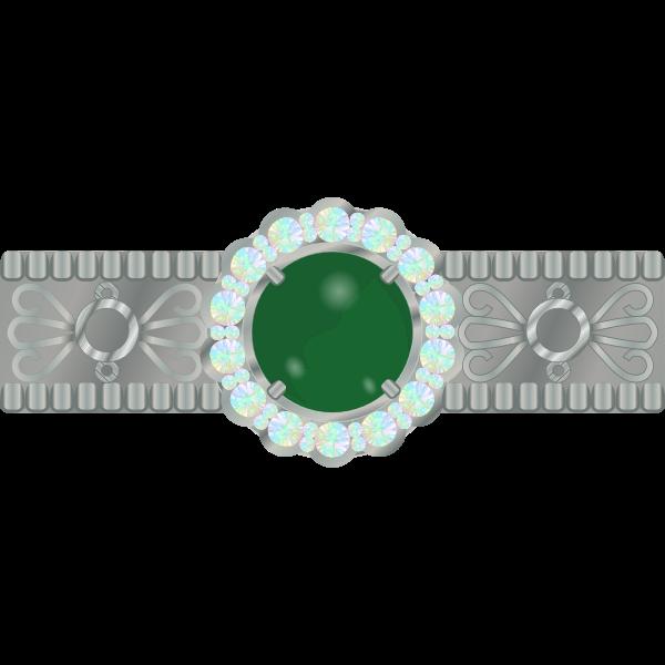 Shiny jewelry vector image
