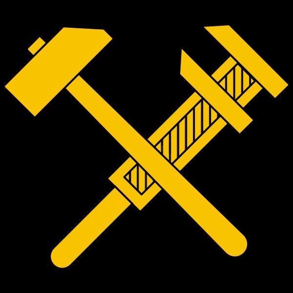 Vector image of working class socialist symbol
