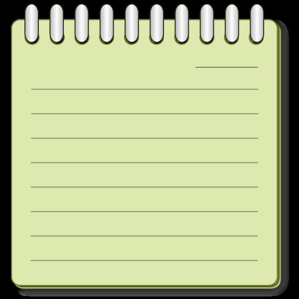Note paper on binder vector image | Free SVG