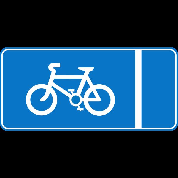 Roadsign Cycle lane
