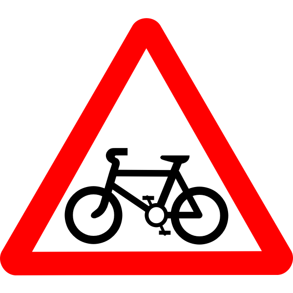 Roadsign Cycle route