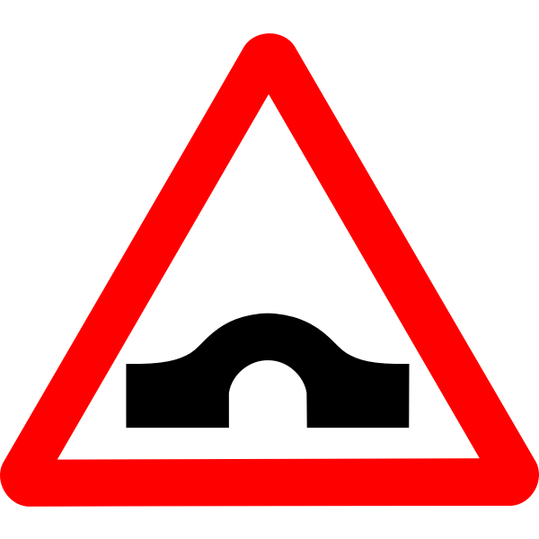Humpback road sign