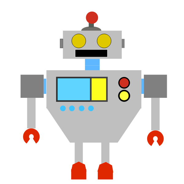 Colored robot image
