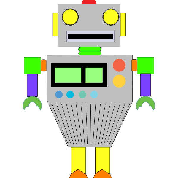 Colorful robot image