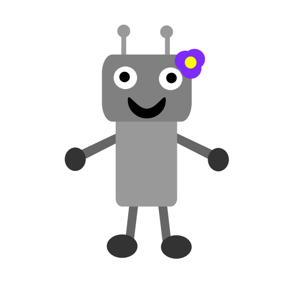 Vector image of robot with TV screen