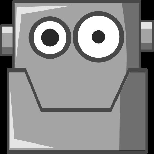 Cute robot portrait vector image