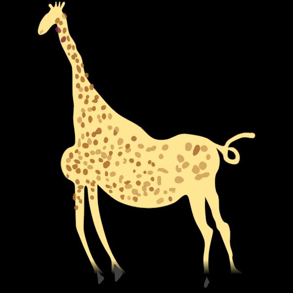 Rock Art Acacus Giraffe - Colored