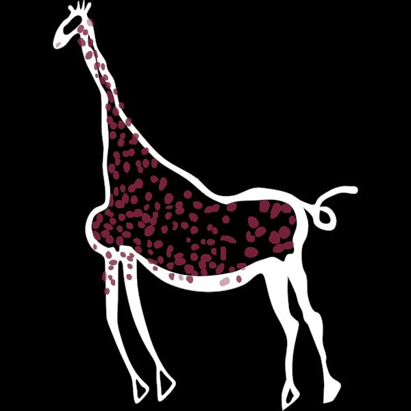 Rock Art Acacus Giraffe
