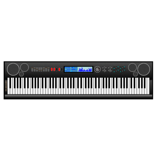 Vector graphics of synthesizer