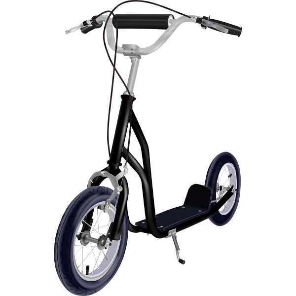 Kick scooter vector illustration