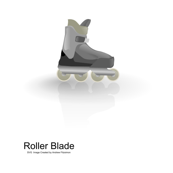 Vector illustration of color rollerblades with shadow