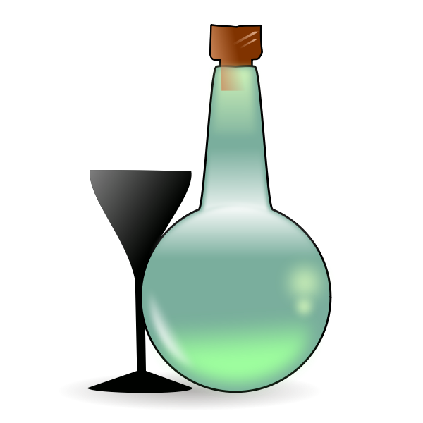 Bottle of absinthe vector graphics