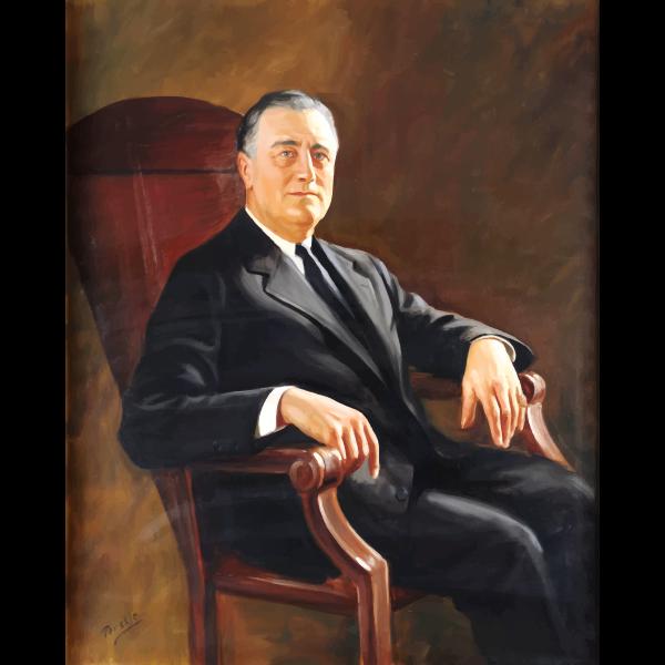 Roosevelt Portrait Painting 1941