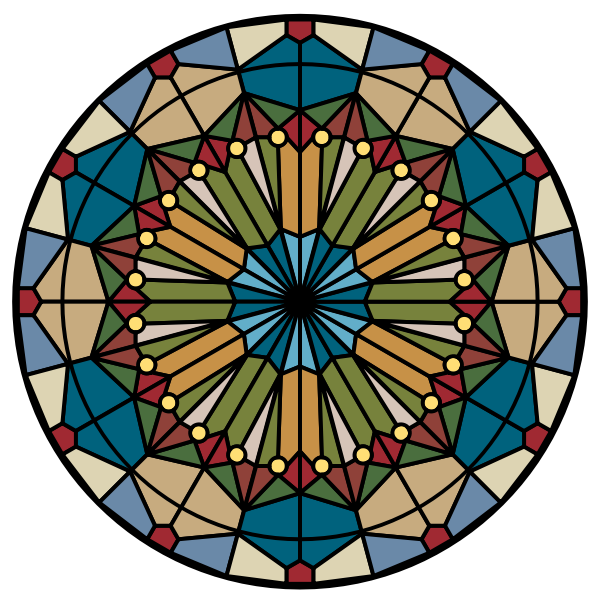 Vector drawing of rosette