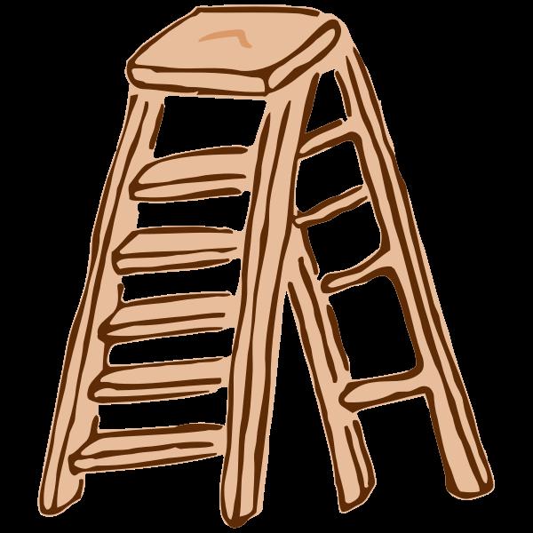 Roughly drawn stepladder