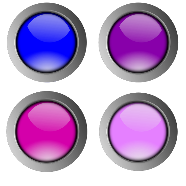 Finger size colorful buttons vector image