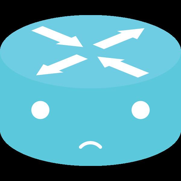 Blue network emoticon