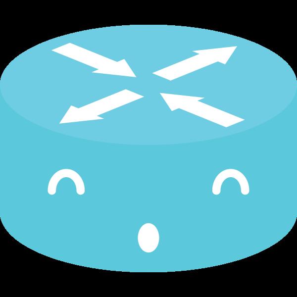 Blue router emoticon
