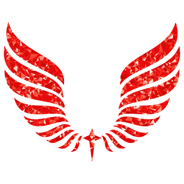 Ruby Abstract Wings