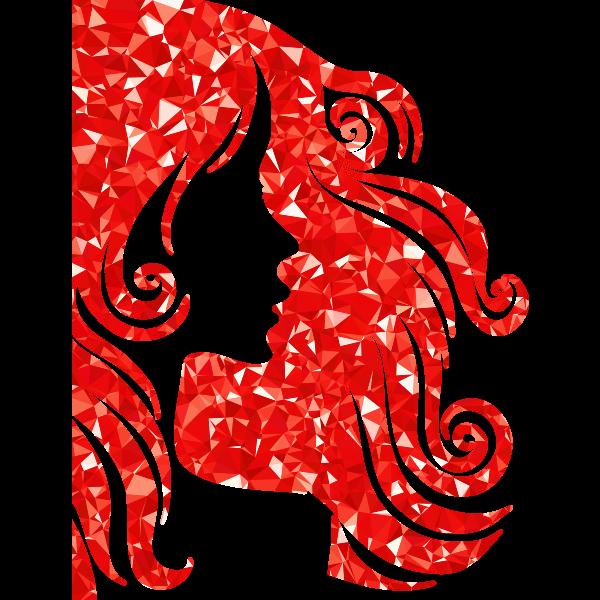 Ruby Female Hair Profile Silhouette