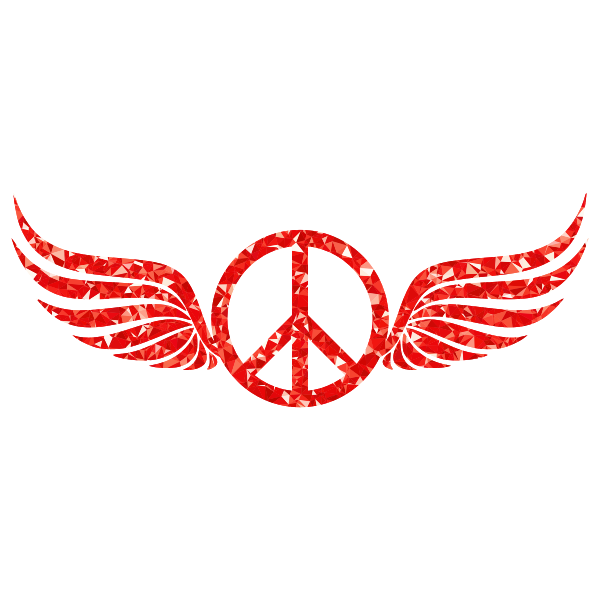 Ruby Peace Sign Wings